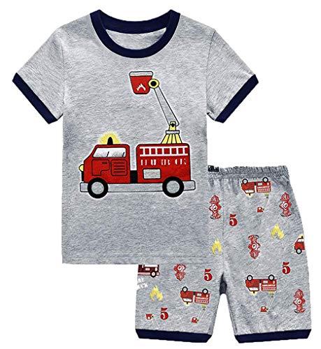 BGIRNUK Boys Pajamas Kids Sleepwear Sets Short Sleeve Cotton Pjs Sleepwear 97 7T