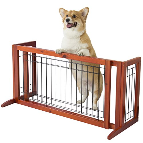 Best Choice Products Pet Fence Gate Free Standing Adjustable Dog ...