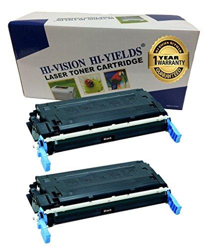 HI-VISION® 2 packs Remanufactured CANON 111 (CRG-111) Black Toner Cartridge Replacement (1660B001AA) for Canon LBP5360,imageCLASS MF9150c,MF9170c,MF9220Cdn,MF9280Cdn Printers