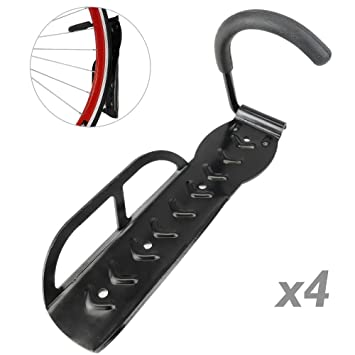 f3bacad16 PrimeMatik - Gancho de Pared para Colgar Bicicleta por la Rueda Kit de 4  Unidades  Amazon.es  Electrónica