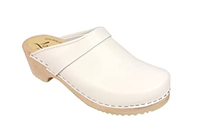 d1a9f212a20ca Lotta from Stockholm Swedish Clogs : Classic Clog in White Leather