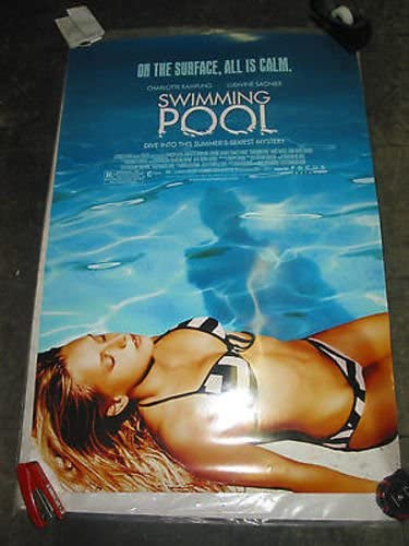 The Swimming Pool U S One Sheet Movie Poster Charlotte Rampling At Amazon S Entertainment Collectibles Store