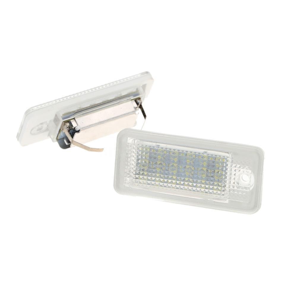 LED Luz De Placa 24-SMD Lá mpara Diurna Blanca Para Audi A4 S4 B6 B7 A6 A8 Generic