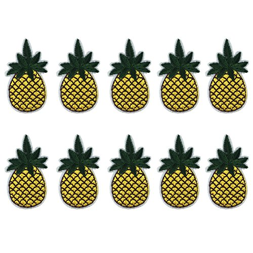 Sew On Embroidered Patches Motif Applique Pineapple Clothed Decoration Patches Dress Backpack Jacket Jeans Hats Bag DIY Sew ()