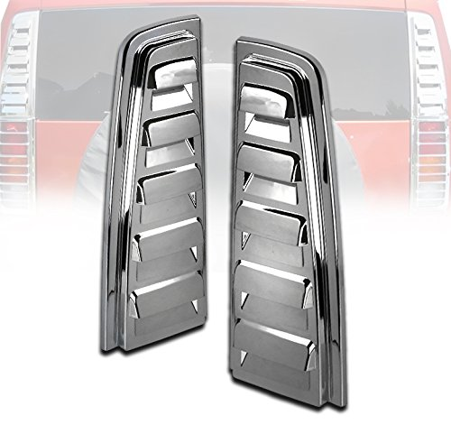 - ZMAUTOPARTS Hummer H2 Rear Upper Tail Light Lamp Vent Cover Guard Trim Chrome