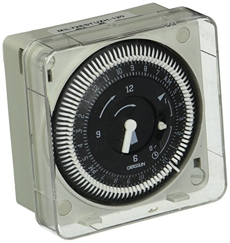 Grasslin by Intermatic MIL72ESTUZH-120 24-Hour 120V Flush Mount Electromechanical Time Control with Manual Override -