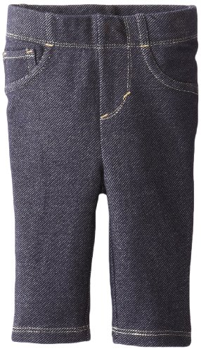 Levi's Newborn Baby-Girls - 9527 Essential Knit Legging, Indigo, 6/9 Months