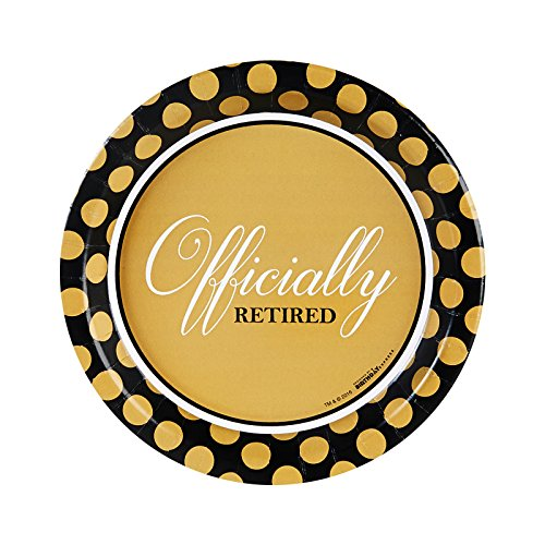Officially Retired Retirement Party Supplies - Dessert Plates -
