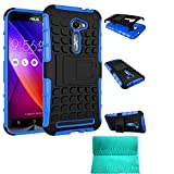 ZenFone 2E Case,Moment Dextrad [Non-Slip][Perfect Fit][Stand Feature]Dual Layer Armor Defender Case ONLY for ASUS Zenfone 2 ZE500CL / ZenFone 2E 5.0-inch (Blue)