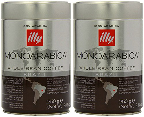 Illy Monoarabica Whole Bean, Single Origin Brazil Coffee Beans 8.8 Ounce (Pack of 2) (Illy Whole Bean Decaf Coffee compare prices)