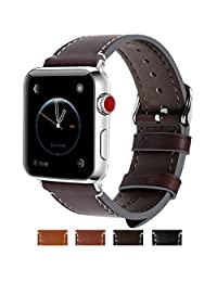 Fullmosa Compatible Apple Watch Bands 42mm 44mm and 38mm 40mm, Jan Series Lichi Texture Calf Leather Strap Replacement Band/Strap/Bracelet for iWatch Series 4, Series 3, Series 2, Series 1, Sport and Edition Versions 2015 2016 2017
