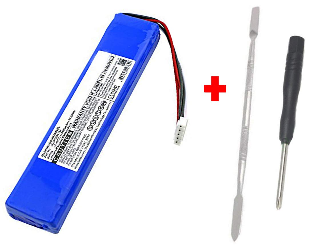 High Capacity Replacement Battery + Tool + Guide (Link) for JBL Xtreme Extreme Portable Bluetooth Speaker 5000mAh Li-Polymer JBL GSP0931134 Repair Power by WirelessFinest (Image #1)