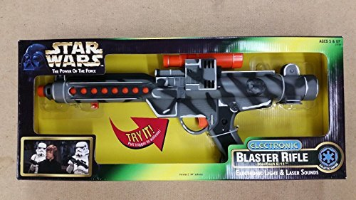 Star Wars Electronic Blaster Rifle BlasTech E-11 w/Light and Laser Sounds