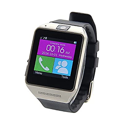 HYSJY®  GV08 Bluetooth Smart Watch Phone Support SIM Card Smartwatch with Camera WristWatch for iPhone Samsung HTC LG Android Smartphones(DG) (GV08-Black)