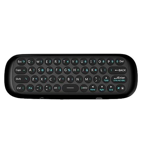quzser Accesorios de Ordenador, Mini Teclado Inalámbrico de Mano con Touchpad Multitáctil para PC,