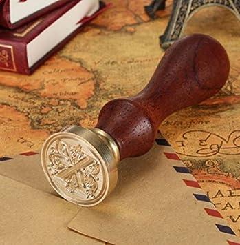 Fablcrew Wachssiegel Wachs Mini Siegel Stempel Dichtungs Wachs Stempel Retro Siegel Stempel 26 Letter A-Z Alphabet