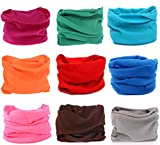 Search : Kingree 9PCS Outdoor Headscarves for ATV/UTV riding, Seamless Bandanas Tube, High Elastic Headband with UV Resistance, Womens and Mens Headband Headwear Headwrap