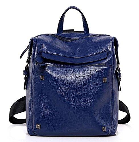 bolso de hombro femenino / mochila sencilla ( Color : Azul ) Azul