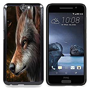The Majestic Brown Red Wolf Caja protectora de pl??stico duro Dise?¡Àado King Case For HTC ONE A9