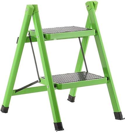 Nevy- Escalera de Paso Taburete de Hierro Plegable 2 Pasos Uso Doble multifunción Hogar portátil Simple, 6 Colores (Color : Verde, Tamaño : 40x51x58cm): Amazon.es: Hogar