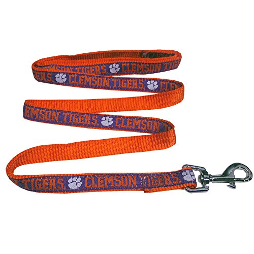 (Pets First Collegiate Pet Accessories, Dog Leash, Clemson Tigers, Small)