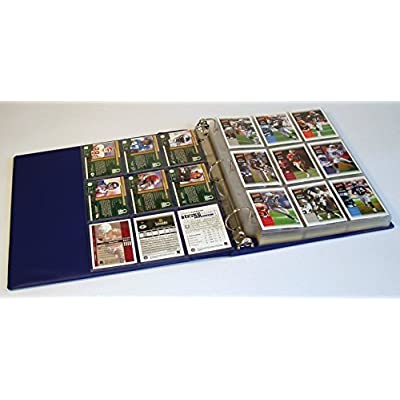 Hobbymaster Football Card Collector Album Binder - Football Design (Navy Blue): Sports & Outdoors