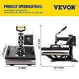 VEVOR Heat Press 15x15 Inch Heat Press Machine 6 in