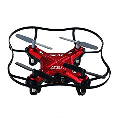 Remote Control Airplane RC Mini Drone for Kids 2.4Ghz 6-Axis Gyro 4 Channels Quadcopter Indoor / Outdoor Flying Helicopter RTF for Beginner Drone Training (Red) by ZH Electrinic Co ., Ltd