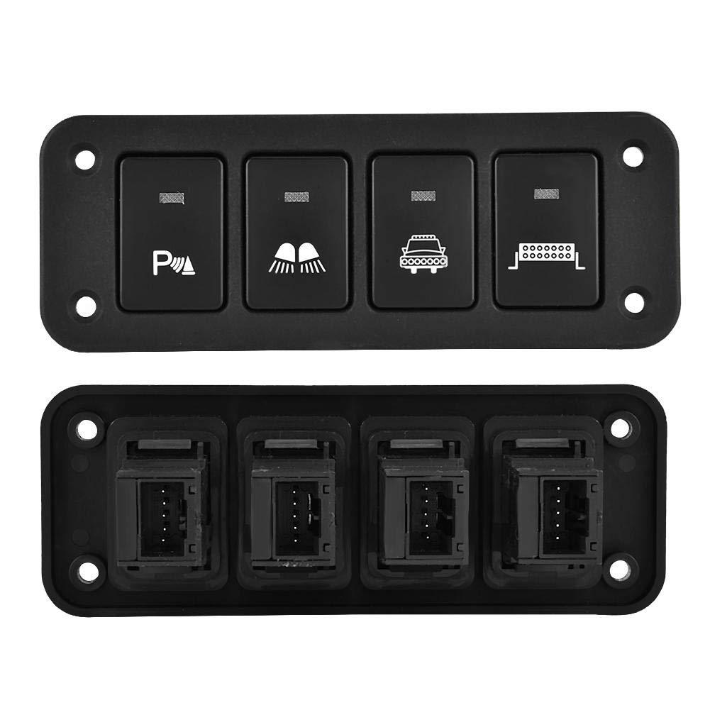 Qii lu Panel de interruptores de cuadr/ícula 12V 4 para luces de tira//faros//luces de cruce//luces de estacionamiento