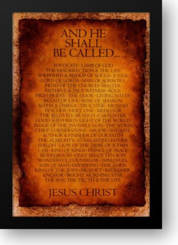 Amazon.com: Names of Christ - And He Shall Be Called... 27x38 Framed ...