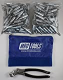 250 3/32 Heavy Duty Cleco Fasteners + Cleco Pliers w/ Carry Bag (KHD1S250-3/32)