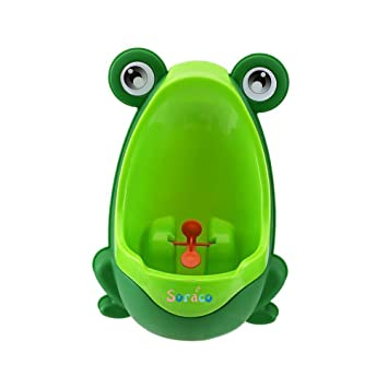 Soraco Cute Frog Boys Potty Toilet Trainning with Whirling Target Green