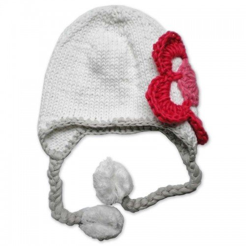Handmade Knit Melondipity Girls Cherry and Ice Baby Girl and Toddler Hat
