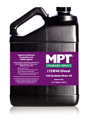 MPT mpt-296 15 W-40ディーゼル標準サービスFull Synthetic Motor Oil – 128 fl oz B00UNFS252