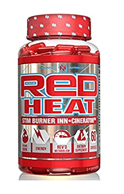 Innovative Nutrients Red Heat Stim Burner Inn-Cinerator Thermogenic Fat Burner 60 Capsules