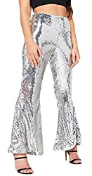 Women's Sequin Stretchy Bling High Waist Pants