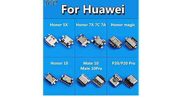 Computer Cables Sukvas 1-50pcs for Huawei Honor 5X 7X 7C 7A 10 Magic Micro USB Connector Port sockect for Huawei Mate 10 Mate10Pro P20 Pro USB Jack Cable Length: 10pcs, Color: for Huawei 5X