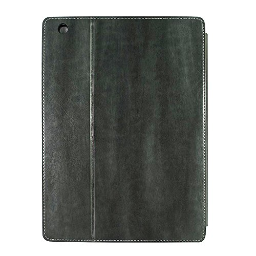 Spring Eye® Vintage leather Old Book Case Smart Cover Bag Bible Style for Apple iPad 6th generation Air 2 Gray