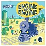 Amigo Engine, Engine No. 9 Kids Board Game with 12 Toy Trains