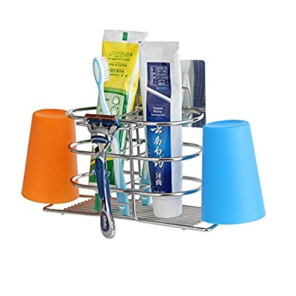 Muro creativo porta cepillo de dientes cepillo cepillo taza hijuelos rack para lavar la taza de