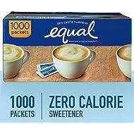 EQUAL 0 Calorie Sweetener, Sugar Substitute, Zero Calorie Sugar Alternative Sweetener Packets, Sugar Alternative, 1000 Count