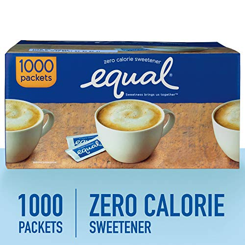 EQUAL 0 Calorie Sweetener, Sugar Substitute, Zero Calorie Sugar Alternative Sweetener Packets, Sugar Alternative, 1000 Count