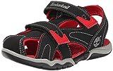 Timberland Adventure Seeker Closed Toe Dress Sandal (Little Kid),Black/Red,2 M US Little Kid