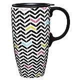 Best Gifted Living coffee mug - Gifted Living Sugarland Chevron Ceramic Travel Coffee Mug Review