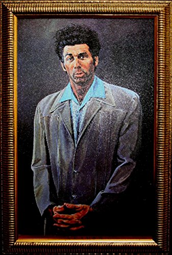 buyartforless IF Kramer Port 29x18 Gelcoat Framed The Seinfeld Kramer Portrait 29X18 Art Print Poster Gelcoated Gel Coat (Port Framed)