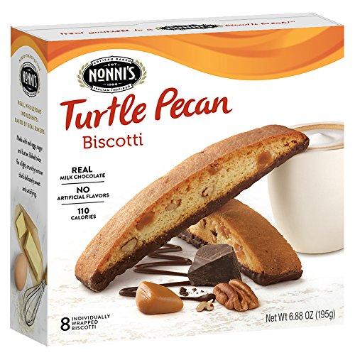 Nonni's Biscotti, Turtle Pecan, 8 Count, 6.88 Ounce -