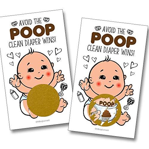 Baby Shower Scratch Off Poop Game 25 (Count)   Gender Neutral Baby Shower Game, Prize, Icebreaker, Activity