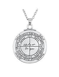 Wicca Amulet Double Sided Talisman For Good Luck Pendant Necklace Jewelry for Unsex Adult