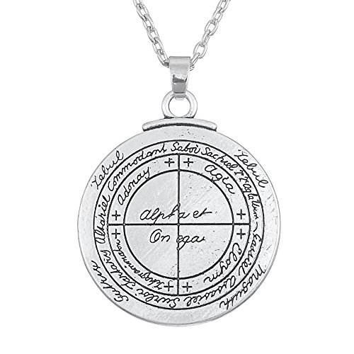 Skyrim Wicca Amulet Double Sided Talisman for Good Luck Pendant Necklace Jewelry for Unsex Adult (13.23)
