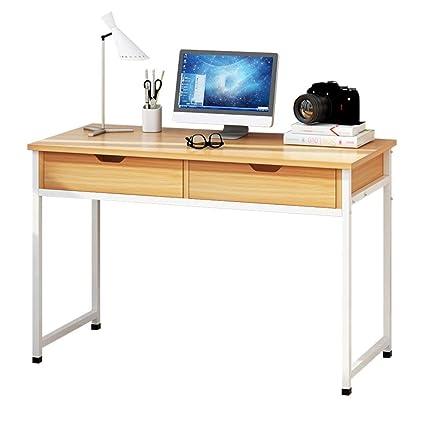 YNN Escritorio Plegable de la computadora de la Tabla Grande con 2 cajones Ordenador portátil para